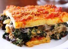 Pastel de acelga ( polenta rellena) en HazteVegetariano.com