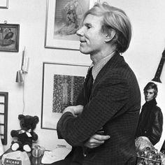 Andy Warhol in his party attire circa 1972. #VFVintage