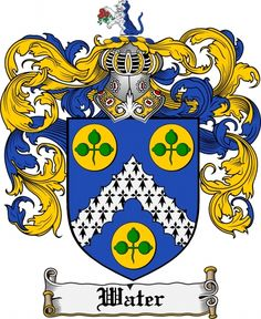 Water Coat of Arms Water Family Crest Instant Download - for sale, $7.99 at Scubbly