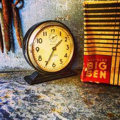 A personal favorite from my Etsy shop https://www.etsy.com/listing/477564070/big-ben-alarm-clock-original-box-non