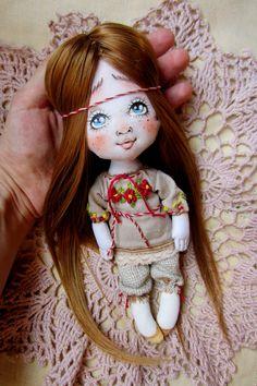 Купить Леля) - бежевый, славянка, девочка, кукла, маленькая кукла, весна, радость, леля, лялька