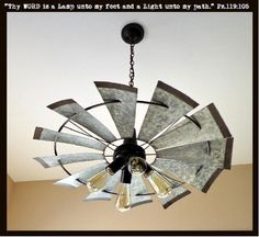 Living room Chandeliers Windmill Farmhouse Chandelier Pendant Lighting LampGoods - Home Decor Ideas Farmhouse Lighting, Rustic Lighting, Farmhouse Decor, Windmill, Farmhouse Chandelier, Building A House, Rustic Farmhouse, Metal Building Homes, Rustic Living Room