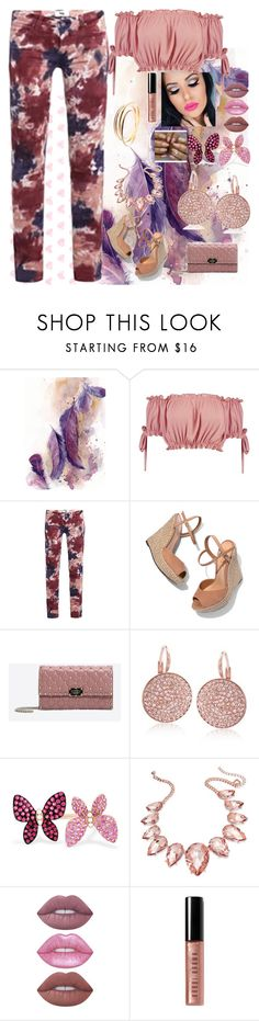 """Pink Summer"" by joy-chiquita-godboldo ❤ liked on Polyvore featuring Boohoo, Paige Denim, Schutz, Valentino, Swarovski, Effy Jewelry, Thalia Sodi, Lime Crime, Bobbi Brown Cosmetics and Cartier"