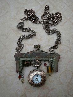 Steampunk Time Piece Necklace by Amanda Scrivener