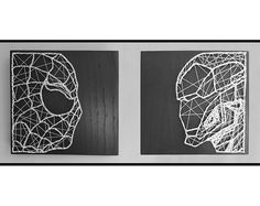 Check out this item in my Etsy shop https://www.etsy.com/uk/listing/544958093/handmade-iron-man-spiderman-string-art