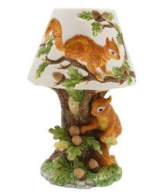 Squirrel Lamp accent lamp, manufactured with the highest quality fine porcelain and ceramic, ensuring years of enjoyment.High quality ceramic construction, hand clean only. Size: x x Wildlife Decor, Cardinal Birds, Lighted Canvas, Fall Projects, Table Lamp Sets, Woodland Creatures, Fine Porcelain, Night Light, Dinosaur Stuffed Animal