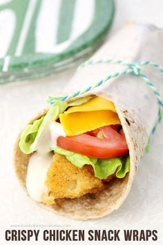 These Crispy Chicken Snack Wraps are quite possibly the perfect snack or dinner idea! They're so easy and delicious! #ad