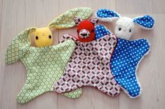 Check out these adorable Lovies made from my Lovey Dovey pattern! Great choice of prints.