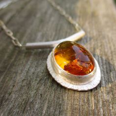 Amber Sunrise.  Large Baltic Amber Sterling and by LunasaDesigns