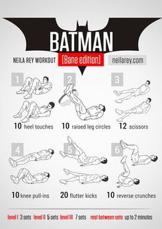Batman II - Neila Rey workout - neilarey.com