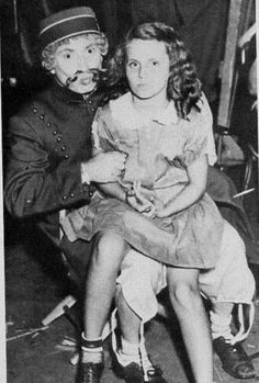 Harpo with his niece (Groucho's daughter) Miriam