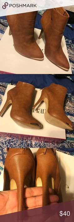 💥WEEKEND SALE!!💥 Worn once! Only some scuffing on tip but only noticeable if you actually look up close Charming Charlie Shoes Heeled Boots