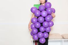 How to Make a Grape Bunch Costume