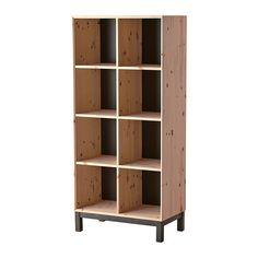 IKEA - NORNÄS, Bücherregal, , Unbehandeltes Massivholz ist ein robustes Naturmaterial, das nach Bedarf und zur Erhöhung der Haltbarkeit lackiert, geölt oder lasiert werden kann. KÜCHE