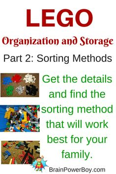 LEGO Organization and Storage: 3 Methods for Sorting