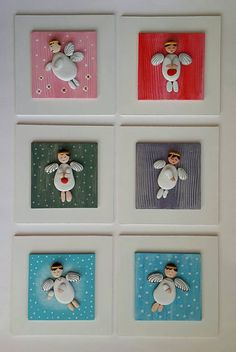 Pebble Art / Stone Art White Wooden Board White Angel by ArzuMusa Sea Crafts, Nature Crafts, Diy And Crafts, Stone Crafts, Rock Crafts, Christmas Pebble Art, Stone Art Painting, Painted Rocks, Hand Painted