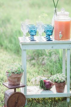 Drink station   Chris Loring Photography   see more on: http://burnettsboards.com/2015/12/roots-shoot-an-elegant-organic-farm-wedding/