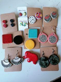 Ceramics, Drop Earrings, Desserts, Ceramica, Tailgate Desserts, Pottery, Deserts, Drop Earring, Postres