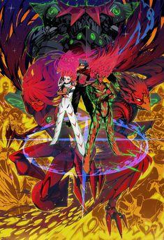 Cross-Over Mobile Wallpaper - Zerochan Anime Image Board Art Anime, Manga Art, Lagann Gurren, Gurren Laggan, Mecha Anime, Anime Style, Anime Characters, Character Art, Illustration