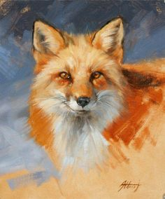 oil paintings of foxes | Two of Mr. Alrdich's lovely demos...
