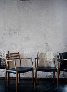 Noma. These chairs look like someone microwaved a danish modern design. Very interesting.