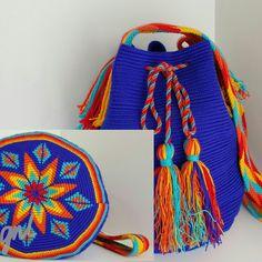Wayuu Mochila bag Beanie Pattern Free, Crochet Beanie Pattern, Knit Crochet, Crotchet Bags, Knitted Bags, Quick Crochet, Unique Crochet, Tapestry Bag, Tapestry Crochet