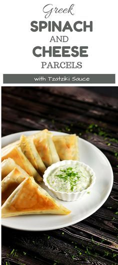 These Greek parcels (called Spanakopitas in Greek) are incredibly easy to make plus they're baked and not fried! YUM! Healthy and absolutely delicious! | ScrambledChefs.com