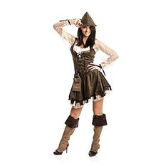 Kostümplanet® Robin Hood Kostüm Räuberinkostüm Kostüm Robin Hood Damen Robin…