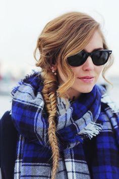 The fishtail braid and Varsity jacket | The Blonde Salad