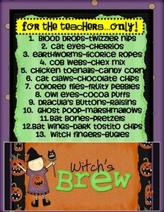 This is a 24 page document I created for Witches' Brew. I have included pre & post writing activities, posters for each ingredient, & much more!