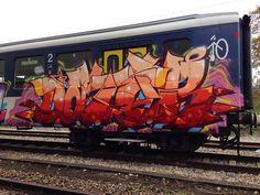 DATER Urban Graffiti, Street Art Graffiti, Graffiti Pictures, American Graffiti, Dragon Artwork, Graffiti Lettering, Urban Art, Pop Art, Trains