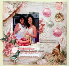 """Dreaming of a White Christmas , well, have a look at the {Shabby Chic} layouts the Design Team have come up with, using the latest paper collection """"SILVER BELLS"""" """"Happy Birthday"""" Layout By Anita Bownds Kaisercraft Products: Happy Birthday Christmas Scrapbook Layouts, Scrapbook Page Layouts, Scrapbook Pages, Christmas Layout, Scrapbooking Ideas, Love Wishes, Christmas Wishes, White Christmas, Snowflake Cards"""
