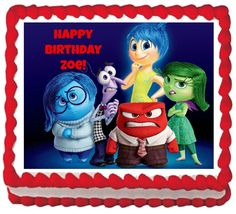 Inside Out Cupcake Toppers Inside Out Inside by CreativeTouchhh Foto Pastel, 4th Birthday Parties, Disney Animation, Inside Out, Holidays And Events, Cupcake Toppers, Favorite Color, Have Fun, Invitations