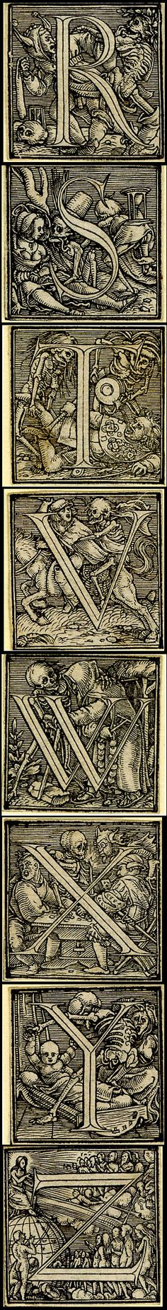 from Holbein's Dance of Death Alphabet. © The Trustees of the British Museum http://www.britishmuseum.org