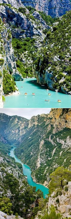 Lake of Sainte-Croix in France (Grand canyon du Verdon). I want to go here - along with many other places. Places Around The World, Oh The Places You'll Go, Places To Travel, Places To Visit, Dream Vacations, Vacation Spots, Europa Tour, Resorts, Reisen In Europa