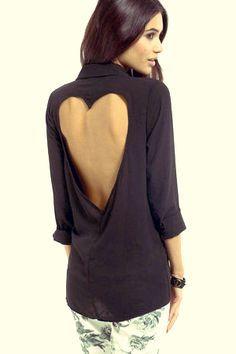 heart cut out blouse - Pesquisa Google