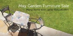 Garden furniture sale. This month get up to 50% off RRP a Trueshopping.