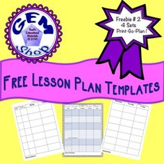 Lesson Plan Templates {All Subjects}Please try and enjoy these 4 sets of Lesson Plan Templates.  Non grade or subject specific with simple designs. No Prep!2 Sets of 2 page Lesson Plan templates  2 sets of 1 page Lesson Plan templatesFor more music activities, click this link: Music, Lessons, Rhythms, Adding, Subtracting Follow me, thanks!https://www.pinterest.com/gaelberberick/https://www.facebook.com/TpTGemShop/https://www.instagram.com/tpt_gemshop/?hl=en