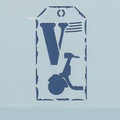 Plantilla cortada a laser de altísima precisión con motivo Vespa, ideal para estarcir sobre cualquier superficie, trabajos de aerografía, repostería, maquillaje, tatuajes, etc. Límpiala cuando termines y utilízala tantas veces como necesites. Disponible online en Topaz tienda de manualidades. Tamaño 12,5x12,5 cm
