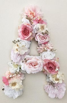 Flower Letter Floral Letter Pink and Gold Name Sign Pink and Gold Nursery Decor Pink Birthday Decor Gold Birthday Floral Nursery Theme Gold Nursery Decor, Floral Nursery, Nursery Themes, Nursery Ideas, Wedding Venue Decorations, Bridal Shower Decorations, Birthday Decorations, Flower Letters, Diy Letters
