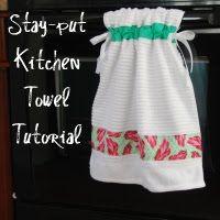 Stay put kitchen towels
