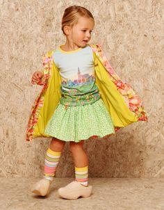 @oililyworld Kids Spring 2014, t-shirt with an old Dutch landscape print #landscape #oilily #springsummer2014 #SS14 #children #kids #childrenwear #kidswear #girls