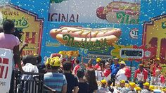 Joey Chestnut breaks Coney Island hot dog eating competition record. 7.4.16