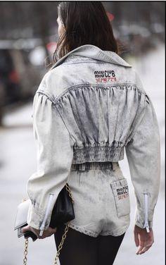 Vogue Fashion, Denim Fashion, Fashion Outfits, Denim Ideas, Denim Trends, Estilo Denim, Merian, Cyberpunk Fashion, Denim Top