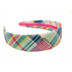 Pawtucket Patchwork Madras Headband by High Cotton. Madras, Madras, Madras! Turns any plain outfit into one only a southern belle could pull off! #HighCotton #preppy #headband http://www.countryclubprep.com/accessories/headbands/pawtucket-patchwork-madras-headband-by-high-cotton.html