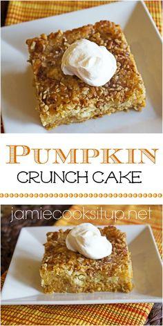 Pumpkin Crunch Cake Jamie Cooks It Up!