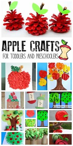 Apple Crafts for Toddlers and Preschoolers - Fall Crafts For Toddlers