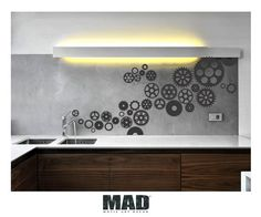 wall sticker wall decal  GEAR WHEELS size M by MotifArtDecor, €32.90