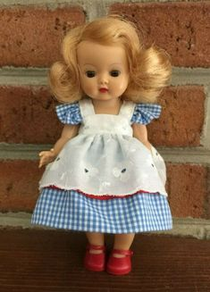 """Ginny and Muffie Doll with Lace White Doll Panties for 8"""" Alexander-Kins"""