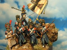 30 mm Plancenoit by Oniria Min.painted by Francesco Thau Waterloo 1815, Battle Of Waterloo, Toy Soldiers, Miniture Things, Military History, Figure Painting, Vignettes, Modeling, Dioramas